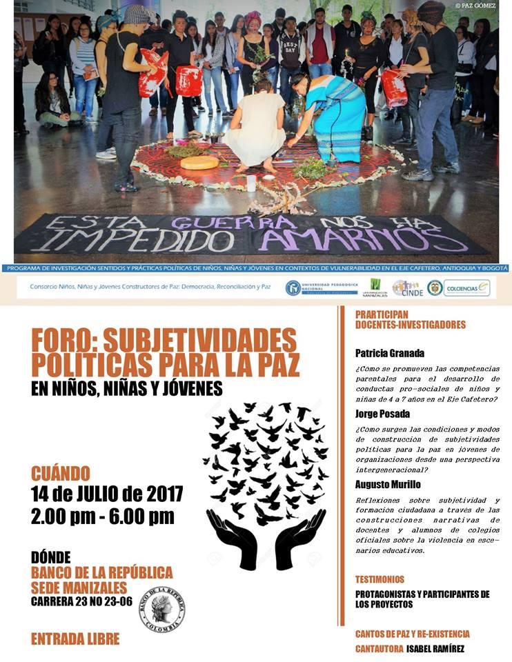 foro-subjetividades-politicas-para-la-paz-en-ninos-ninas-y-jovenes-fundacion-cinde