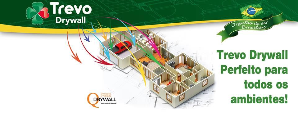 banner trevo drywall - instalação de drywall - gestor de obras