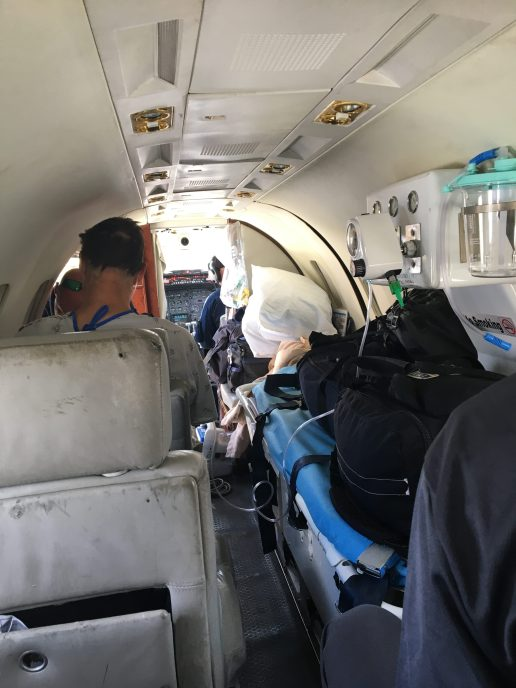 inside the air ambulance