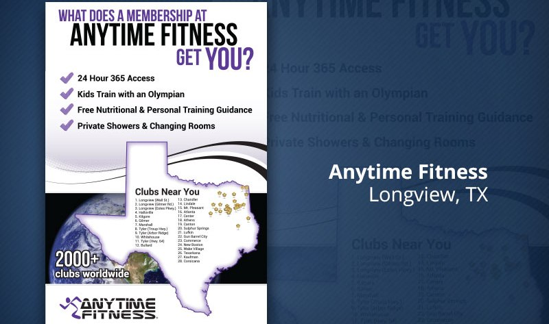Anytime fitness print