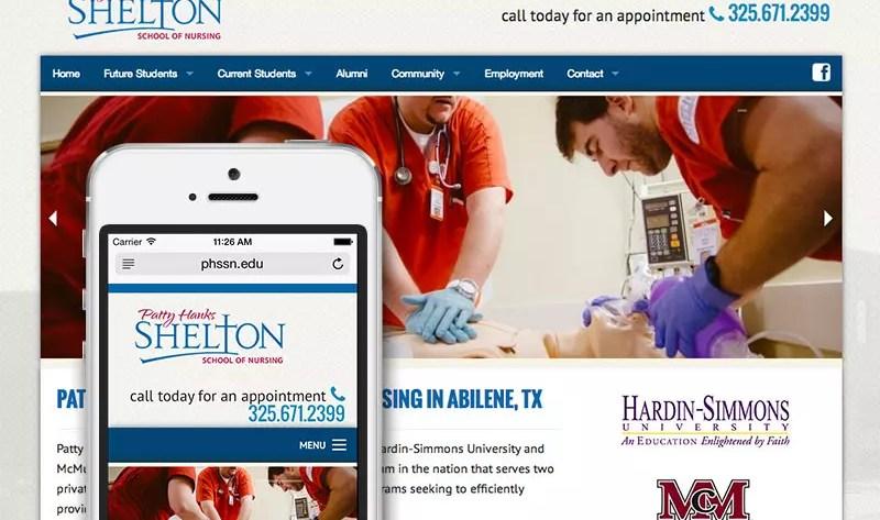 Patty Hanks Shelton School of Nursing Website Design and Development