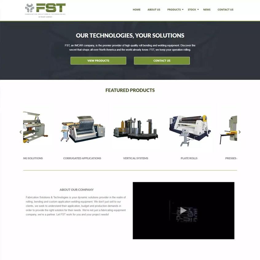 Fabrication Solutions & Technologies - Logo & Web Design Longview Texas