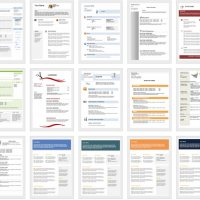 Downloadable and editable free cv templates