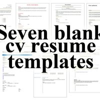 7 free blank cv resume templates for download