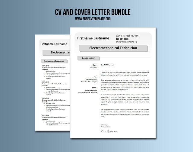 CV and Cover Letter Bundle #5