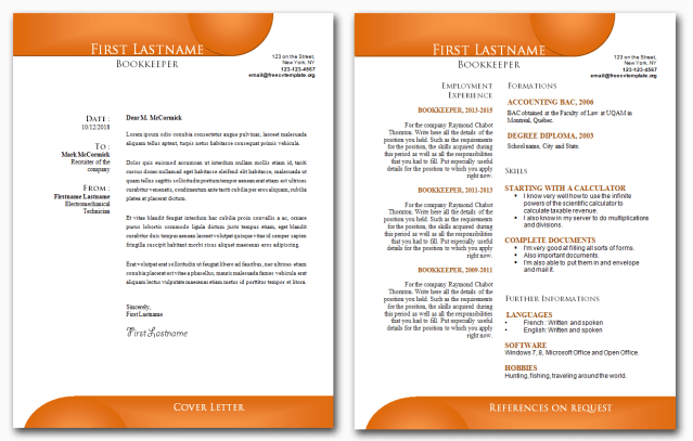 CV and Cover Letter Bundle #21