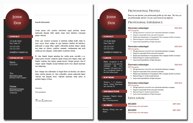 CV and Cover Letter Templates Bundle #23
