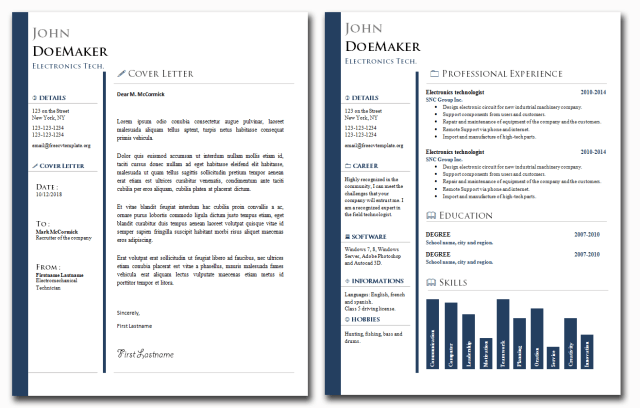 CV and Cover Letter Templates Bundle #25