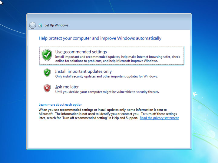 Windows installation, getallatoneplace, installing windows