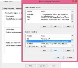 Java Environment Variables, setting Environment Variables, Environment Variables setup