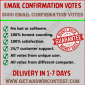 Buy confirmation votes for contest