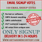 Buy email signup vote