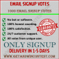 email signup votes