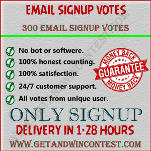 Sign up for contests