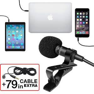 Professional Grade Lavalier Lapel Microphone Omnidirectional Mic by Power De Wise Image