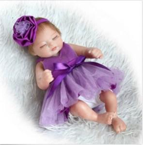 10'' Lifelike Newborn Baby Girl Doll Soft Vinyl Realistic Reborn Baby Doll