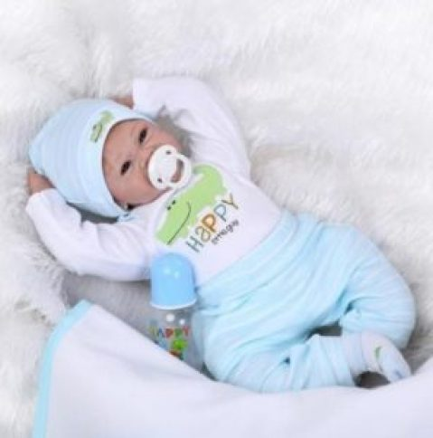 22''Handmade Lifelike Baby Boy Girl Silicone Vinyl Reborn Newborn Dolls + Clothes