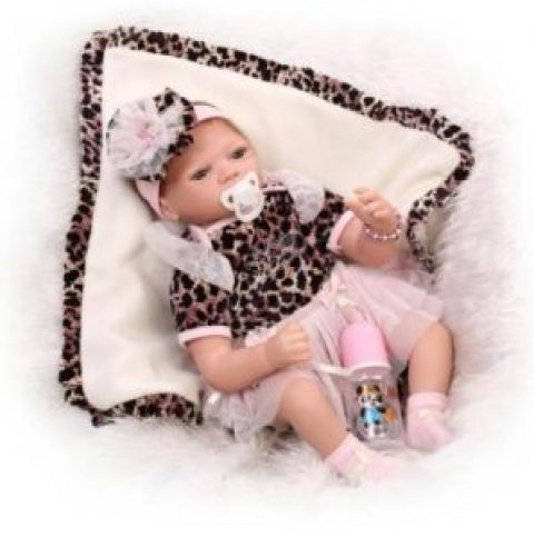 55CM/22'' Handmade Lifelike Baby Leopard Doll Silicone Image