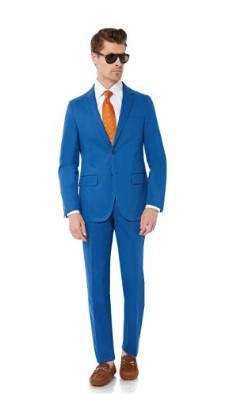 ENZO Mens 2 Button 2 Piece Modern Fit Cotton Suit Image