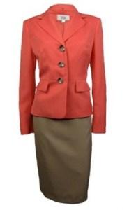 Le Suit Women's Cozumel Three Button Skirt Suit Image