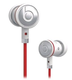 Official Monster Beats By Dr. Dre 3.5mm in Ear/earbuds Stereo Headset for HTC White Image