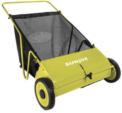 Sun Joe Manual Push Lawn Sweeper