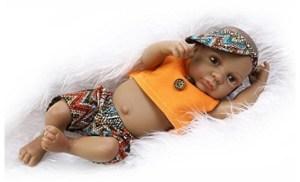 Full Body Terabithia African American Black Reborn Baby Dolls