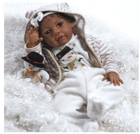 Paradise Galleries African American Realistic Girl Baby Doll
