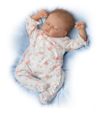 "Sophia Full Silicone Body Lifelike Baby Doll 19"""