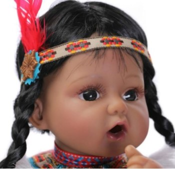 20 Inches Native American Indian Reborn Baby Doll