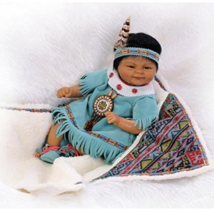 """Oumeinuo 20"""" African American Ethnic Reborn Baby Doll"""