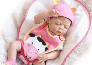 Very Cute Sweet Dreamer Silicone Vinyl Reborn Girl Doll