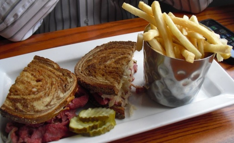 Sandwich and fries at Kitchen Bar, Abington PA