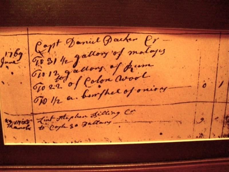 Captain Daniel Packer Tavern Ledger, Mystic CT