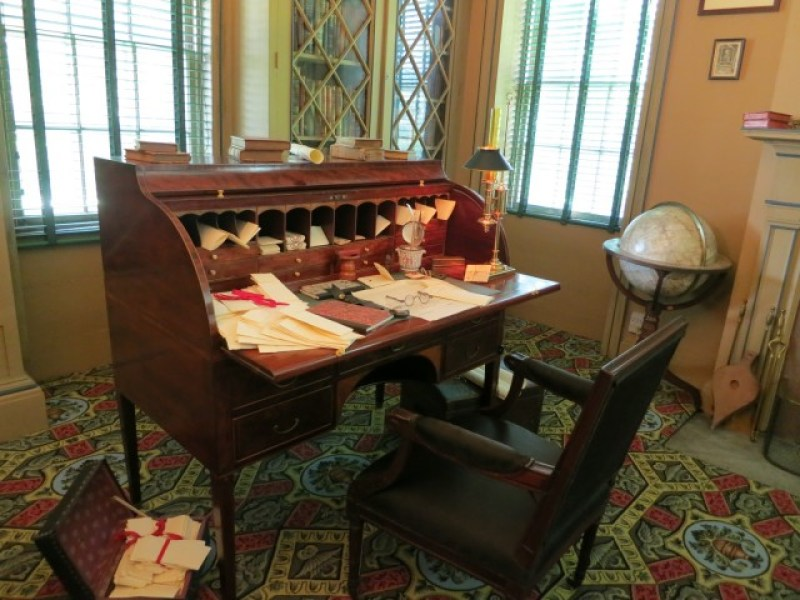 Rolltop desk owned by America's first Chief Justice of the United States - John Jay Homestead Katonah, NY