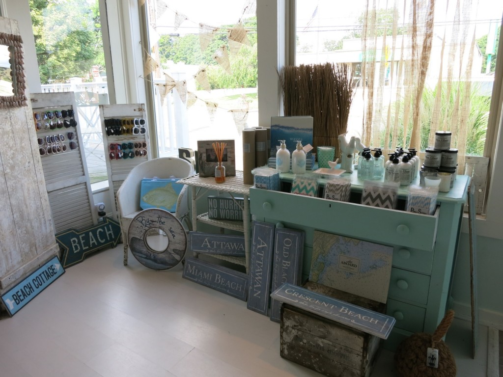 Everything beachy and gifty at fun Niantic CT boutique
