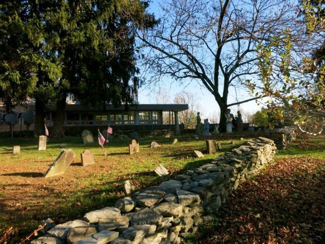 1700's Cemetery on property of Buttermilk Falls Inn, Milton NY in Hudson Valley