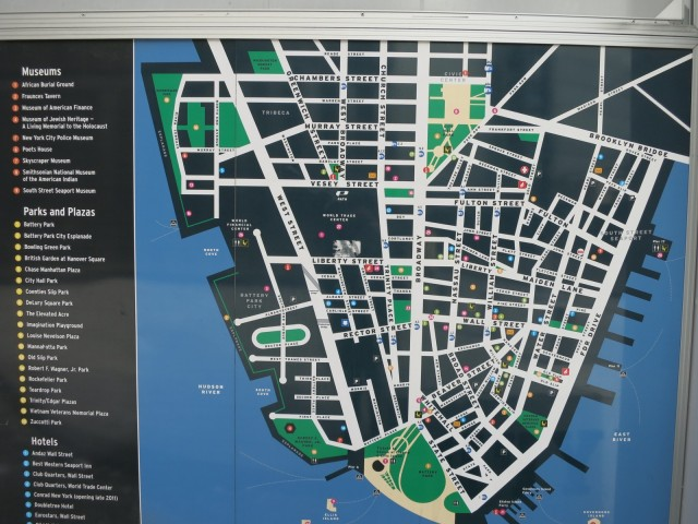 Map of Downtown NYC