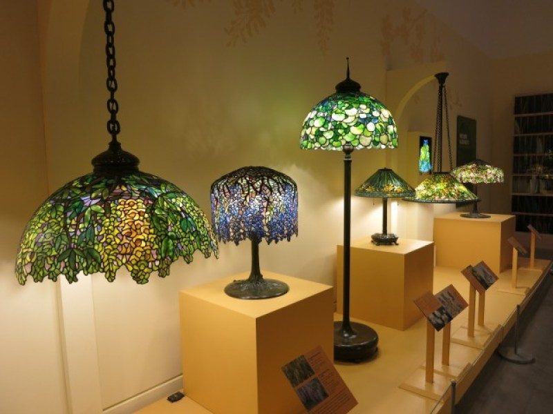 Louis Comfort Tiffany Glass Lamps at Queens Museum, NY