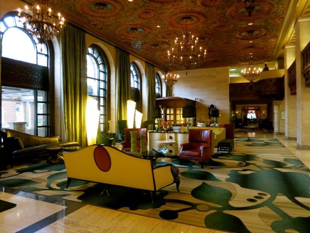 Du Pont Hotel's renovated lobby, Wilmington DE