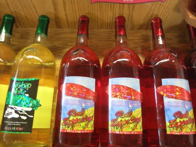 Fulkerson Winery sweet Zeplin Series - a fun drink, Seneca Lake NY