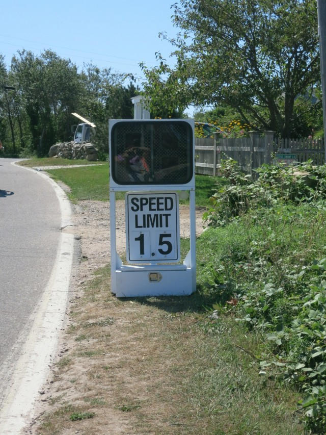 Slow down! A Block Island 1.5 MPH Speed Limit Sign