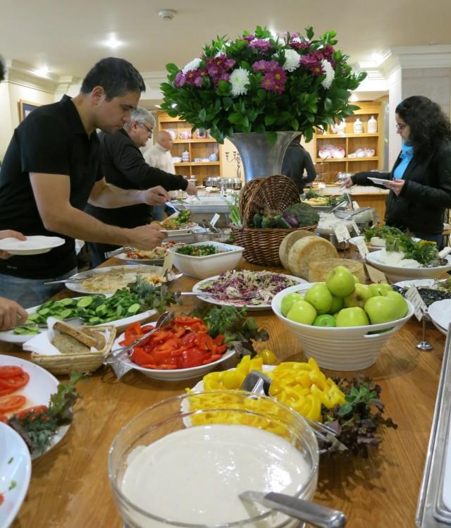 Breakfast at Mitzpe Hayamim