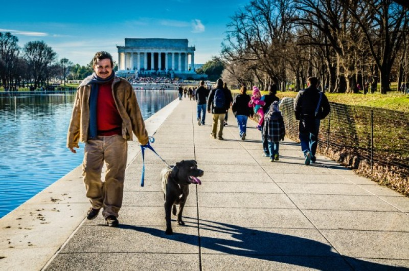 Walking a Dog - Lincoln Memorial - Washington DC in a day