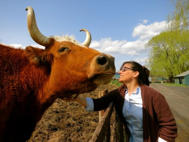 Kelly Mullins and Friend, Catskill Animal Sanctuary