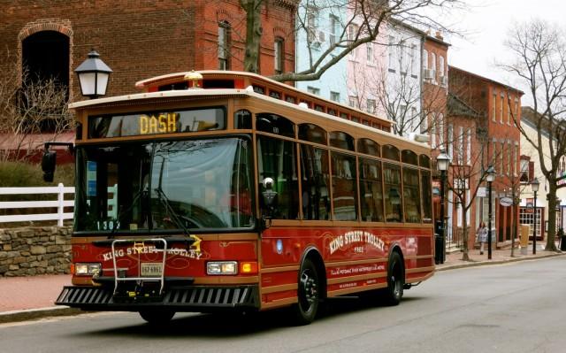 Free Alexandria VA King St. Trolley