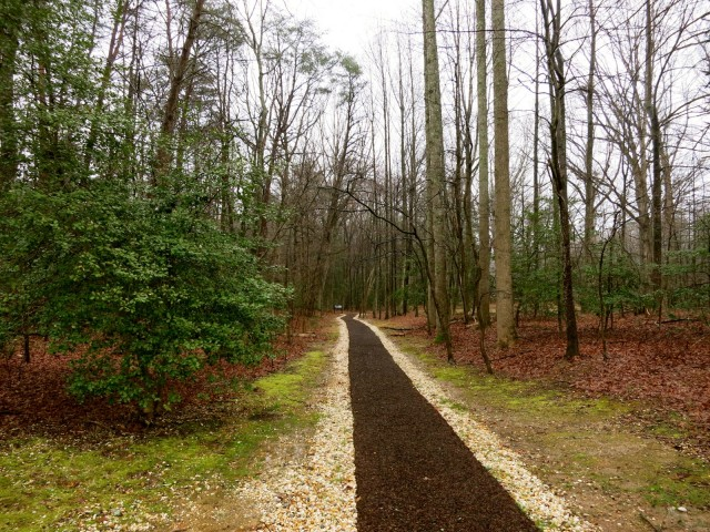 Path to spot where Stonewall Jackson was mortally wounded, Chancellorsville Battlefield Visitors Center