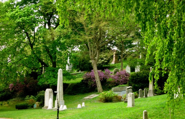 Graves at Mount Auburn Cemetery