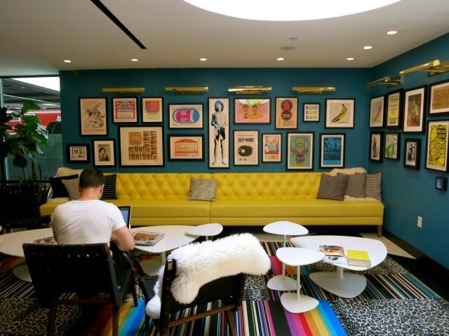 Lobby of Verb Hotel, Boston