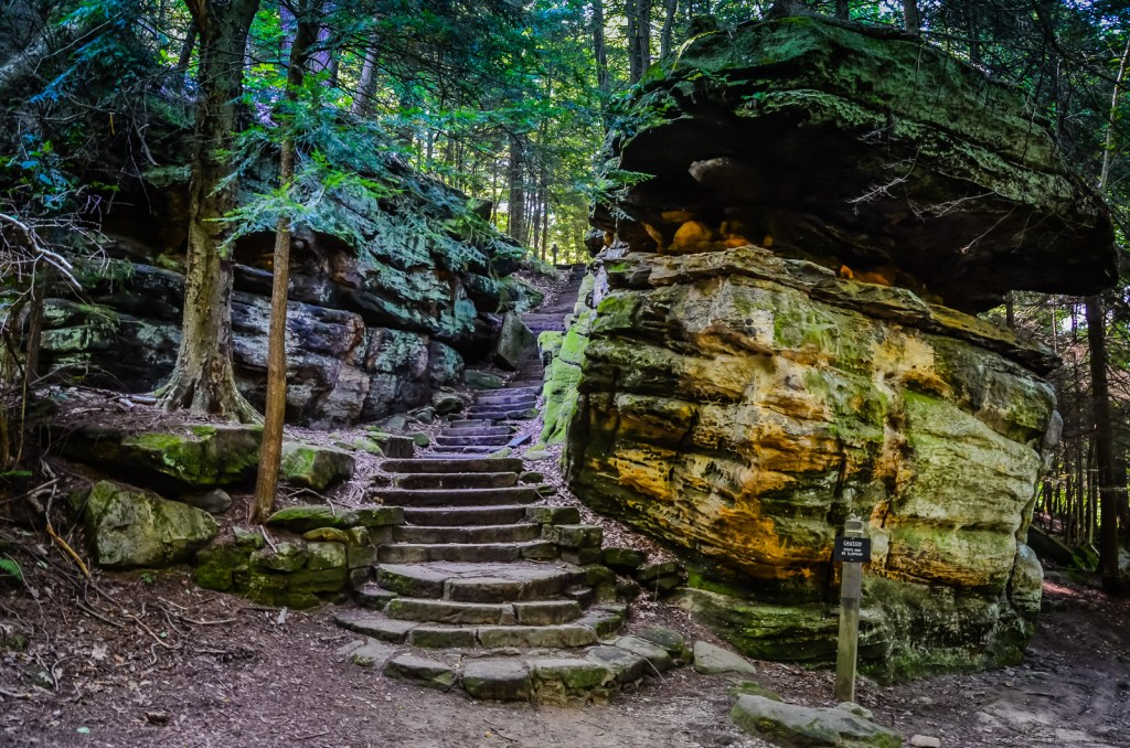 Stone Stairs - Ritchie Ledges - Cuyahoga National Park